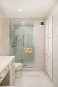 Shower in the Small Bathroom