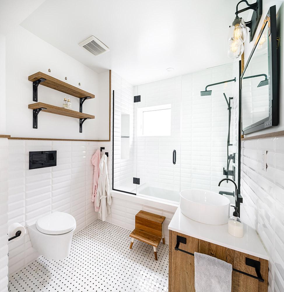 scandinavian town house hoboken nj bathroom