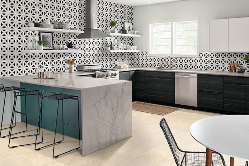 Aria Cremita Kitchen Tiles