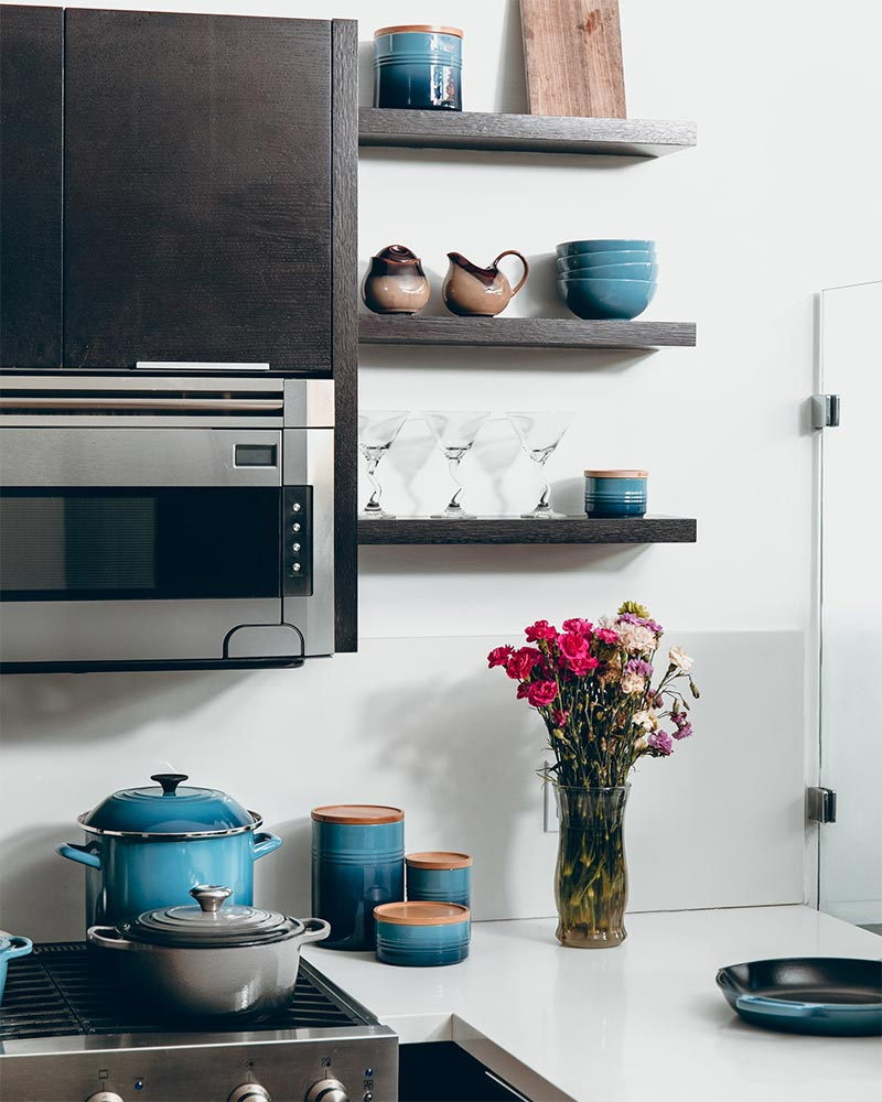 A Detail With Kitchen Shelves